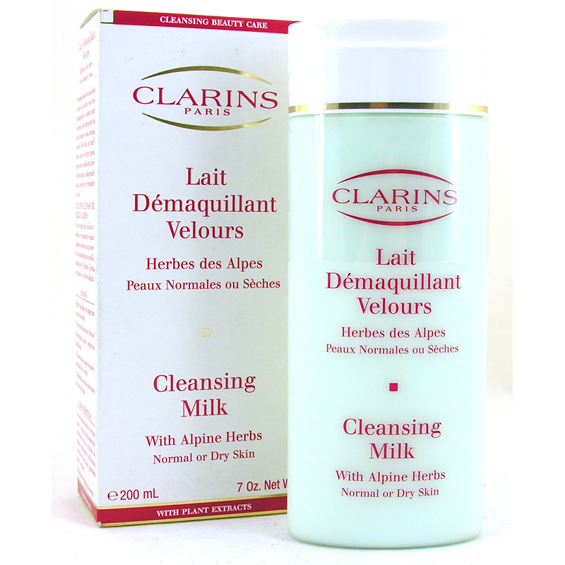 how to use clarins cleansing milk