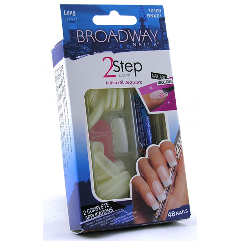 Broadway 2 Step Nail Kit 48 False Nails | eBay