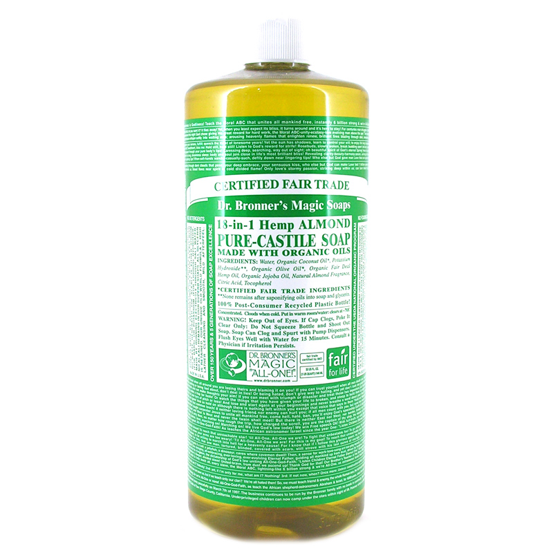 dr bronner 39 s organic almond castile liquid soap available in different sizes ebay. Black Bedroom Furniture Sets. Home Design Ideas