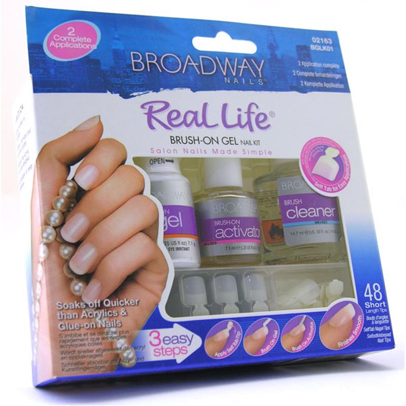 Brush On Nail Gel: Broadway Real Life Brush On Gel Nail Kit